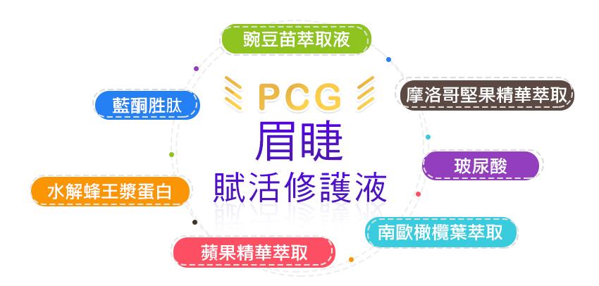 髮生機-PCG眉睫賦活修護液 PCG PCG生髮水 PCG洗髮精 PCG養髮液