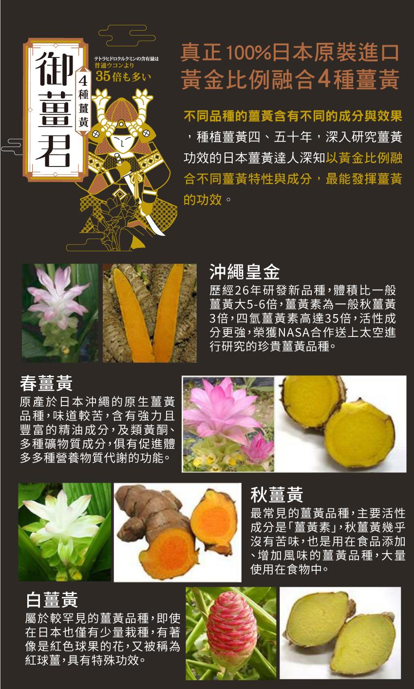 沖繩皇金,春薑黃,秋薑黃,白薑黃