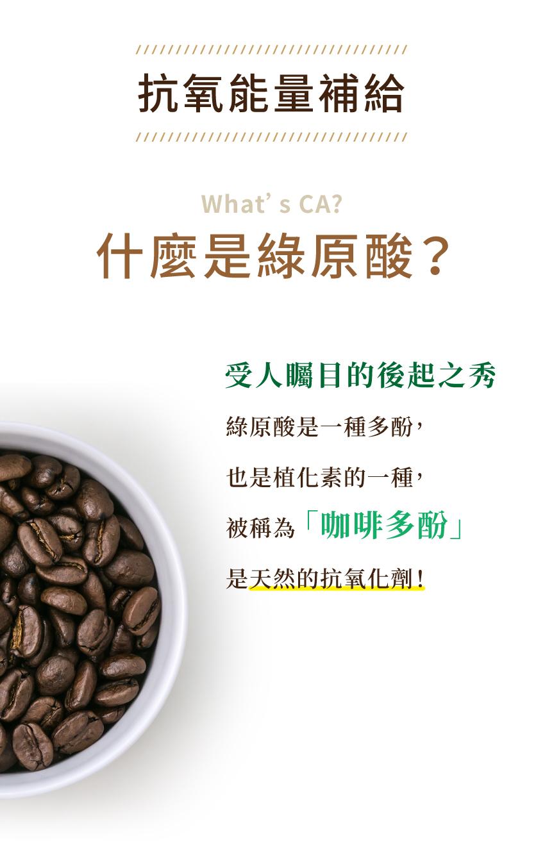 抗氧能量補給,受人矚目的後起之秀,咖啡多酚,天然的抗氧化劑